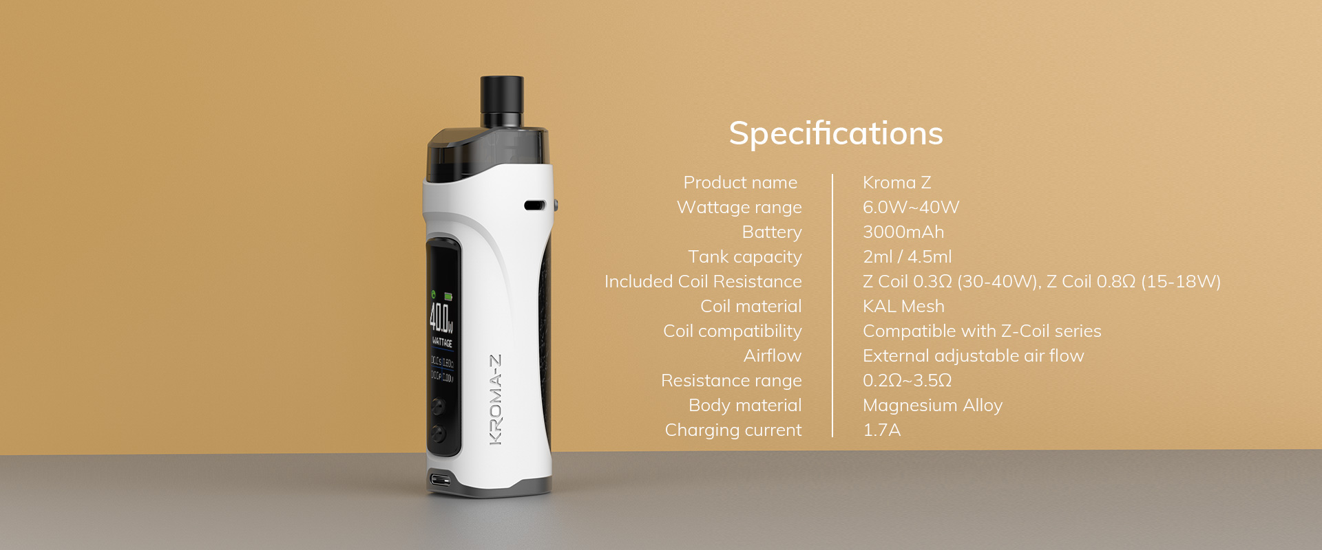 kroma z 40w 3000mah pod kit by innokin 15