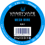 VANDY VAPE KA1 MESH WIRE 80mesh 5ft