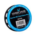 VANDY VAPE SS316L SUPERFINE MTL FUSED CLAPTON WIRE 30GA x 2(=)+38GA 10ft