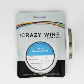Crazy Wire 0.34mm (28 AWG) KA1 (FeCrAl A1) Wire - 15.15 ohms/m // 10m