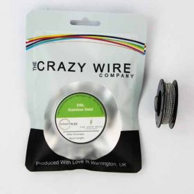 Crazy Wire 26 AWG Fused Clapton Coil SS316L (26 AWG x 2 & 32 AWG) // 5m