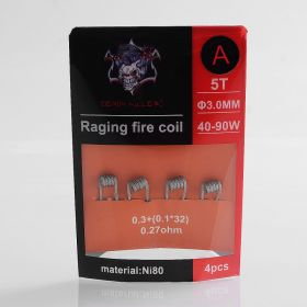 Demon Killer Raging Fire Coil A Ni80 Heating Wire - 0.3 + (0.1 x 32), 0.27 Ohm (4 PCS)