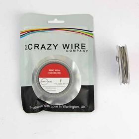 Crazy Wire Alien Coil Wire Ni80 (0.3mm x 0.8mm Flat Wrapped With 32 AWG) // 5m