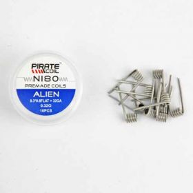 Pirate Coil Alien Pre-Made Coil Ni80 (0.3 x 0.8mm Flat + 32 AWG) 10 Pack